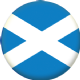 Scotland St Andrew Light Blue Country Flag 25mm Flat Back